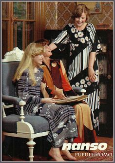 Nansoa 70-luvulta Fashion Over, 70s Fashion, Vintage Fashion, Middle Age Fashion, Old Commercials, Good Old Times, Crazy Outfits, Fashion Pictures, Vintage Ads