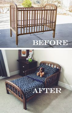 DIY: Old Crib Into Toddler Bed