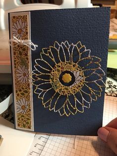 Hand Made Greeting Cards, Making Greeting Cards, Birthday Greeting Cards, Sunflowers And Daisies, Sunflower Cards, Stamping Up Cards, Cards For Friends, Fall Cards, Kids Cards