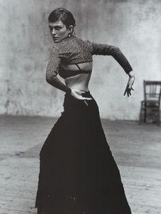 'Escuela Flamenca', Vogue Spain, December 1998. Photo: Jacques Olivar Model: Laura Ponte.