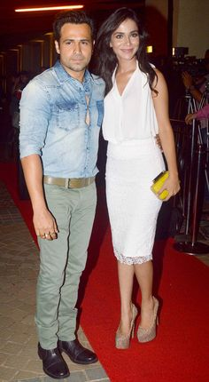 Emraan Hashmi with Humaima Malik at 'Raja Natwarlal' wrap-up bash. #Style #Bollywood #Fashion #Beauty