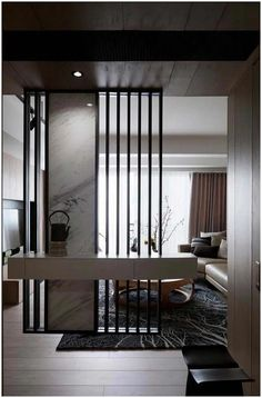 Modern Living Room Divider 42 Stunning Modern Partition Design Ideas for Living Room Living Room Partition Design, Living Room Divider, Room Partition Designs, Living Room Interior, Home Interior Design, Living Room Decor, Partition Ideas, Wall Partition, Living Rooms