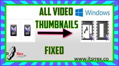 How to Fix All Videos File Thumbnails Instead of Icons\Solved All Video, Icons, Videos, Symbols, Ikon