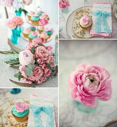 Lovely wedding colors - turquoise and pink