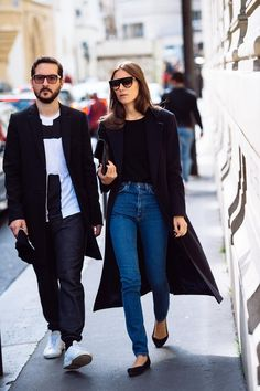 Jeans with black and Celine sunnies.
