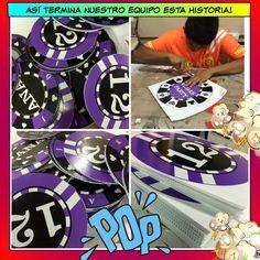 Magníficos quedaron estos círculos impresos de vinil sobre coroplast para una fiesta con temática de las Vegas!!! Muyyyy cool! Bien hecho equipo! #Litek #ExpertosEnImpresión #PiensaRojo