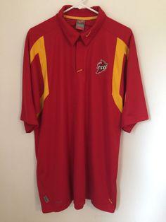 Mens IOWA STATE University Cyclones Nike Team XL Polo Shirt Fit Dry Sports Top #Nike #IowaStateCyclones
