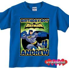 Batman Birthday boy Shirt - Personalized, Custom