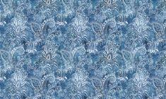 Indigo Blue and White Paisley Cotton Pillow Cover, Table Runner, Placemats, Decorative Pi Paisley Pattern, Paisley Print, Stuart Graham, Kinds Of Fabric, Gorgeous Fabrics, Floor Decor, Cotton Pillow, Indigo Blue, Blue Fabric