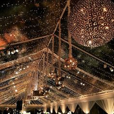 Clear Tent with Fairy Lights, BEAUTIFUL!#revelryeventdesign
