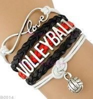 Learn more about ** Volleyball Bracelet - Purple/Black