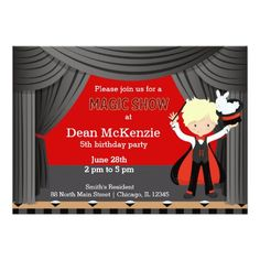 Sold #MagicShow #kids #birthday party Card Available in different products. Check more at www.zazzle.com/celebrationideas
