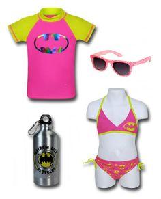 "FOR THE BEACH: ""Batgirl"" Outfit by Mary Huth Batgirl Pink Symbol Girl's Bikini: http://www.superherostuff.com/batgirl/swimwear/batgirl-pink-symbol-girls-bikini.html?itemcd=swmbatgpnkbkutm_medium=linkutm_campaign=featuredoutfit Batman Aluminum Water Bottle: http://www.superherostuff.com/batman/water-bottles/batman-gotham-recycles-20oz-aluminum-water-bottle.html?itemcd=bottlbatgthmrcyc HM Sunglasses: http://www.hm.com/us/product/22373"