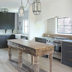 BECKI OWENS- Design Trend 2018: Reclaimed Kitchen Islands