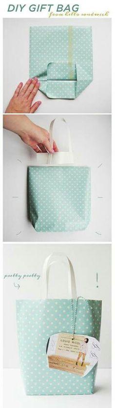 Como hacer una bolsa de regalo