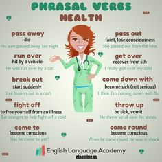 Phrasal Verbs -Health, ESL, EFL, ELT, Teach English, Phrasal Verbs, Health