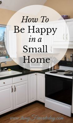kitchen clean and clear makes you happy in a small home