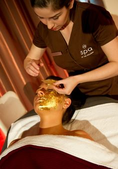 24 carat gold spa facial.......................................................................