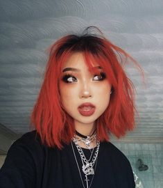 rip zeph go go tomato Hair Color Streaks, Hair Dye Colors, Cool Hair Color, Red Hair Inspo, Dying My Hair, Aesthetic Hair, Girl Haircuts, Dream Hair, Messy Hairstyles
