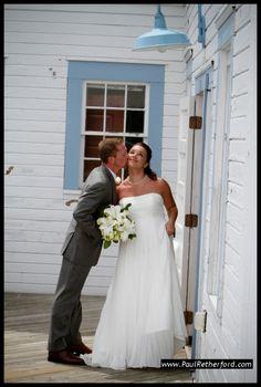 Elberta Historic Life Saving Station Wedding Photo | West Michigan | Lake Michigan #Elberta #Frankfort #Wedding #Michigan