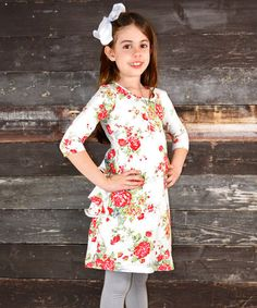 Just ordered for my daughter from Zulily! I can't wait to see my dd wearing it!  Rose Ruffle Shift Dress - Toddler & Girls by A Little Annafaith #zulily #zulilyfinds