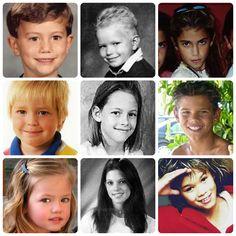 Twilight stars were little. Jackson, Kellan, Nikki, Rob, Kristen, Taylor, Mackenzie, Ashley, Booboo