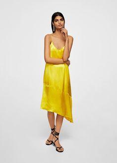 a0b6825165 Asymmetrical satin dress - Women