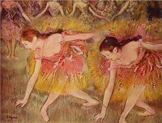 Dancers Bending Down - Edgar Degas