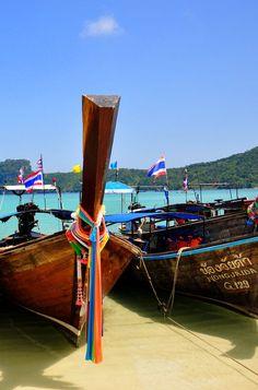 Longtail boat in Mueang Krabi, Krabi, Thailand.