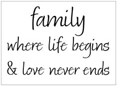 Family where life begins and love never ends 10 MIL laser-cut stencil by PearlDesignStudio on Etsy