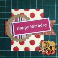 Craft Embellishment - Happy Birthday