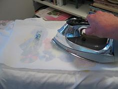 "Sharpie / alcohol you need to iron the shirt when done to set the color otherwise the color will ""bleed"" when you wash it!"