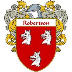 Robertson Coat of Arms   namegameshop.com has a wide variety of products with your surname with your coat of arms/family crest, flags and national symbols from England, Ireland, Scotland and Wale