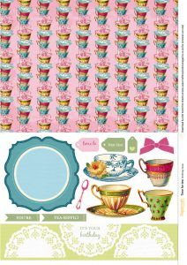 Afternoon tea free papers from Papercraft Inspirations 168 - Papercraft Inspirations