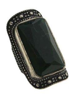 Black Crystal Ring #SheInside