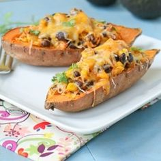 Mexican Sweet Potato Skins - would save scraped sp for another recipe instead of adding to stuffing mix