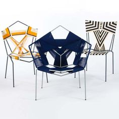 that black and white woven chair is amazing