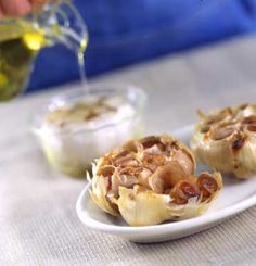 Roasted garlic adds a sweet, mellow, caramel flavor to soups and salad dressings.