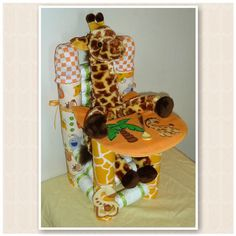 Diaper High Chair Custom Diaper Cake Baby by CreationsByDawne