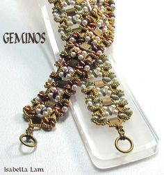 GEMINOS DUO Tila Pearls and SuperDuo Beadwork Bracelet by bead4me: