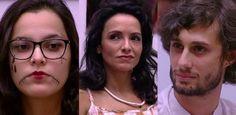 """""""Big Brother Brasil 17"""" - Pedro, Marinalva e Emilly, com voto de Roberta, estão no 'paredão'"""