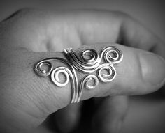 Sterling Spirals Wire Ring - One of a Kind Ring. $29.00, via Etsy.