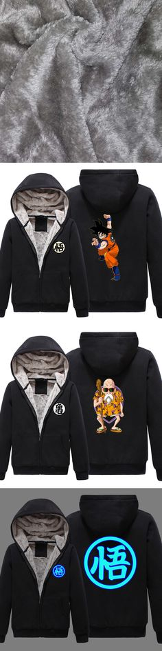 New winter Dragon Ball hoodie Anime Son Goku  Master Roshi hooded Coat Men Women Thicken Sweatshirt
