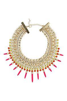 Bright Multi Stud Stick Collar - Collar Me Crazy  - We Love