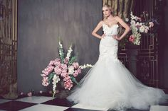 We've been seduced by the opulence and fairytale factor of the Anna Georgina wedding gowns - so we're delighted to showcase the 2014 bridal collection - enjoy! Sheer Wedding Dress, Wedding Dresses 2014, Designer Wedding Gowns, Bridal Musings, Bridal Collection, Dress Collection, Vogue, Mod Wedding, Lace Wedding