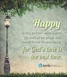 Pray to be happy
