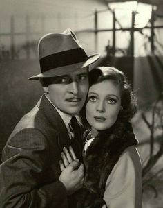 """Ronald Colman and Loretta Young in """"Bulldog Drummond"""" ( 1934 ) Golden Age Of Hollywood, Vintage Hollywood, Classic Hollywood, In Hollywood, Ronald Colman, Classic Movie Stars, Classic Movies, Detective, Young Movie"""