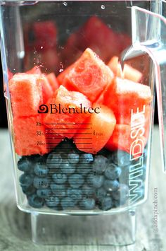 Blueberry Watermelon Smoothie Recipe - Cooking | Add a Pinch | Robyn Stone