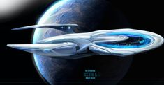 USS Enterprise K sides profil by thraxllisylia on DeviantArt Spaceship Art, Spaceship Design, Spaceship Concept, Concept Ships, Star Trek Starships, Star Trek Enterprise, Star Trek Voyager, Uss Enterprise Ncc 1701, Vaisseau Star Trek