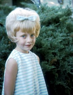 Snap shot of a young girl with her new bouffant hairy style, 1967.